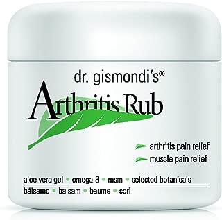 Dr. Gismondi's Arthritis & Muscle RUB - 4 Ounces - Stronger Cream Formula