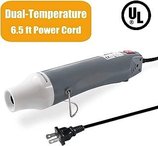 Mlife Mini Heat Gun - 300 Watt - Dual-Temperature Heat Tool for DIY Acrylic Resin Cups Tumblers Embossing Shrink Wrapping Paint Drying Crafts Electronics (Gray)