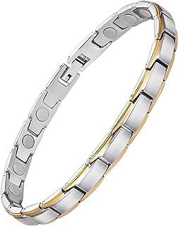 Magnetisches Armband für Frauen, Titanstahl, Magnettherapie, Armband, Schmerzlinderung,..