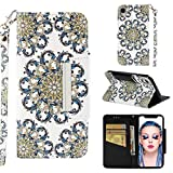 iPhone XR Case, UZER 3D Premium PU Leather Shockproof [Kickstand Feature] [Wrist Strap] Folio Flip Wallet Case with Cash/Card Slots Durable Magnetic Book Case for iPhone XR 6.1 Inch 2018 Model