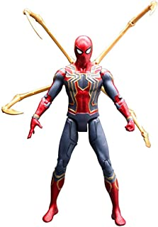 Rulercosplay Iron Spider Action Figure - Marvel Authorization Avengers 3 Action Figures 7 inches (Spider-Man)