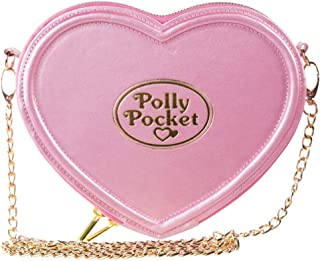 Official Polly Pocket Heart Shaped Pink Cross Body Bag Handbag