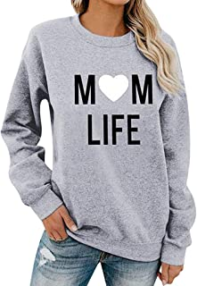 Bloomn Womens Long Sleeve Fashion Print Pullover Sweatshirt Ladies T-Shirt Tops Blouse