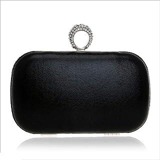 DIEBELLAU Women's Fashion Dinner Bag Ladies Banquet Bag Hand Evening Bag (Color : Black, Size : XS)