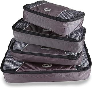 GOX Upgraded 4 piece Packing Cubes Travel Luggage Organizers 1 Large 1 Medium 1 Small 1 Slim