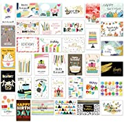 Happy Birthday Cards Multipack, Birthday Greeting Cards Assortment with Envelopes, Colourful Designs for All Occasions Suitable for Women and Men, Children and Adults 36 Pack