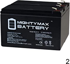 Mighty Max Battery 12V 9AH SLA Battery Replaces hr1234w - 2 Pack Brand Product
