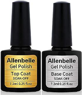 Allenbelle Esmaltes Permanentes Para Uñas Nail Art Soak Off UV LED Esmalte Permanente de gel (Lot 2 pcs 7.3ML/pc) 011