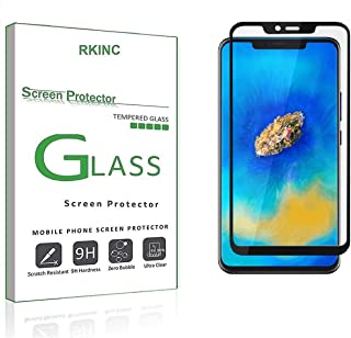 RKINC for Huawei Mate 20 Pro Screen Protector, [1 Pack] Full Coverage Tempered Glass Clear Screen Protector [9H Hardness][3D Round Edge][0.33mm Thickness] for Huawei Mate 20 Pro, Black