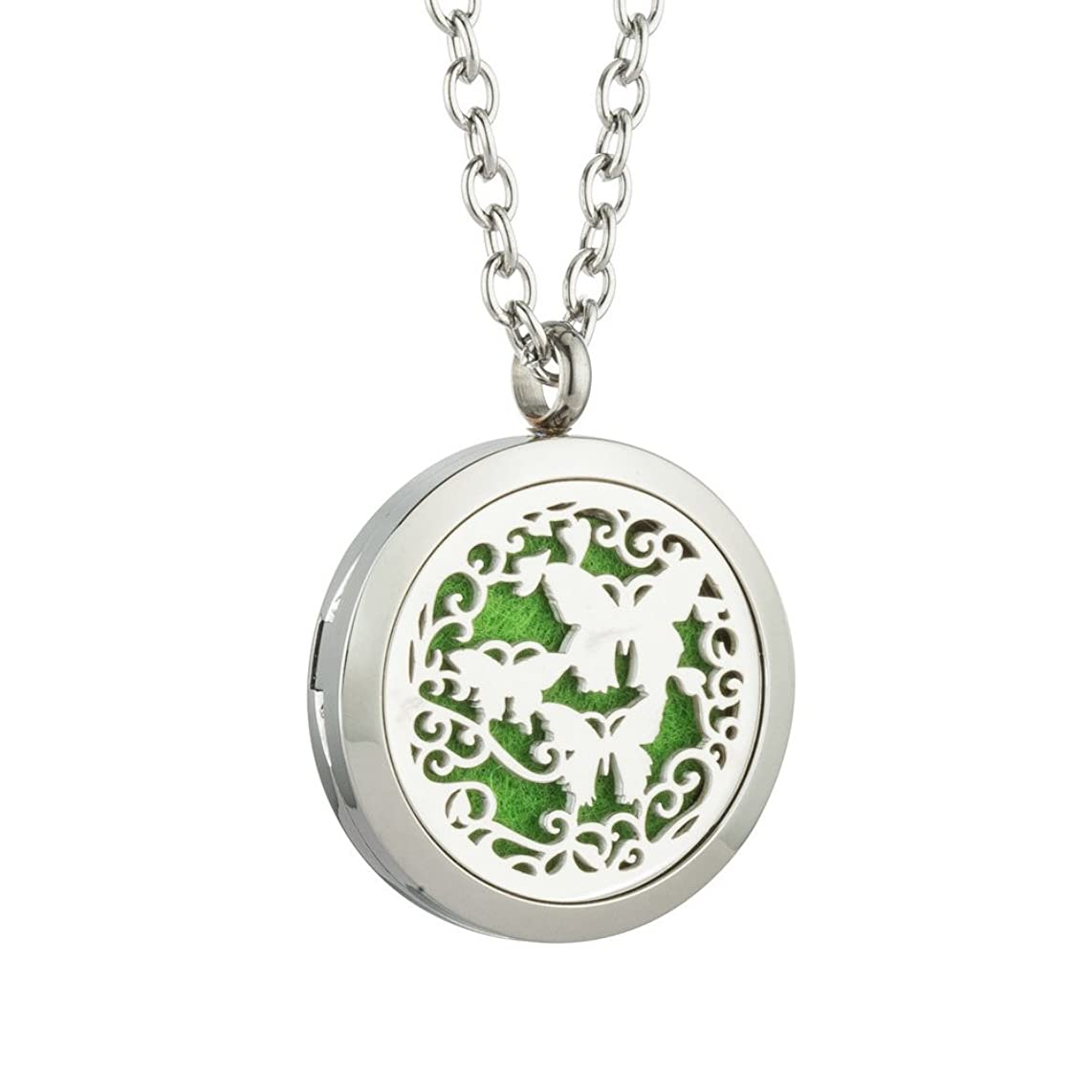 JAOYU Essential Oil Diffuser Necklace for Women Men Aromatherapy Pendant Stainless Steel Floating Charm Locket - Animal Jewelry Teen Girls Gifts