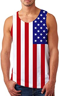 11258838a20e9 Uideazone Mens Tank Top Casual 3D Printed Patterns Graphics Tees Cool  Sleeveless T-Shirts