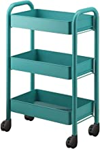 3 Tier Kitchen Storage Trolleys Removable Tower Rack Bathroom Shelf With Wheels And Armrest Slim Rolling Beauty Salon Cart...