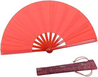 HONSHEN Small Folding Fan Red