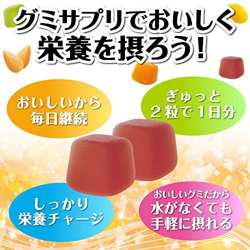 『UHAグミサプリ ビタミンD3 マスカット味 スタンドパウチ 40粒 20日分』の4枚目の画像