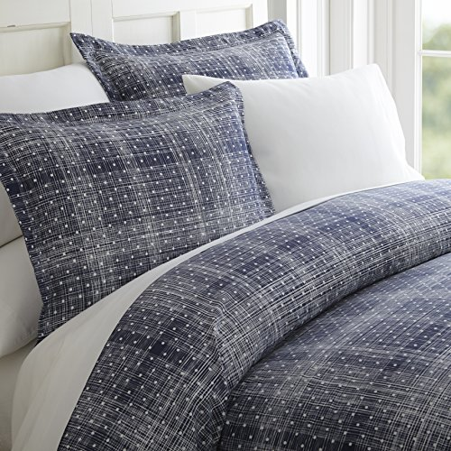 Simply Soft 3 Piece Polka Dot Pattern Duvet Cover Set