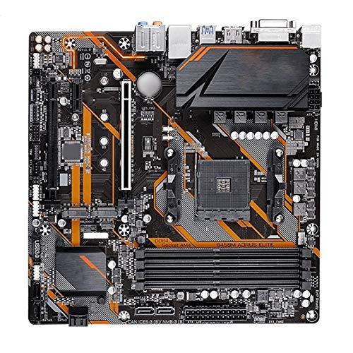 Tarjeta Madre Fit For Gigabyte GA B450M AORUS Elite AMD B450 / 4-DDR4 DIMM/M.2 /USB3.1 / Micro-ATX/Nuevo/MAX-64G Placa Base De AM4 Double Channel Computer Motherboard