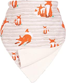 Double Dribble - The All-Day Neckerchief Bib! | Stop Dribble Rash and Messy Bibs with Hidden Wiping Layers | Made from Bam...
