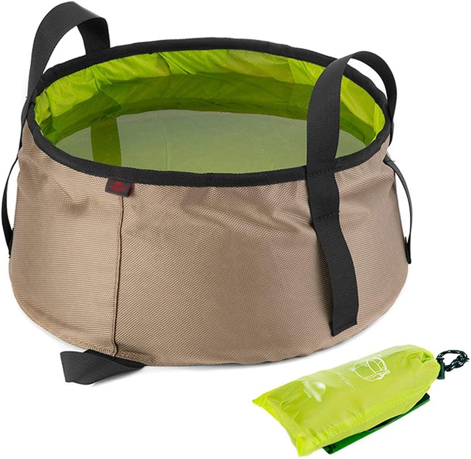 FH MultiFunction Portable Folding Bucket, Outdoor Hiking Camping Washbasin, Suitable for All Kinds of Outdoor Activities and Families