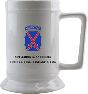 Customizeable Army 10th Mountain Division 16 oz. Beer Stein