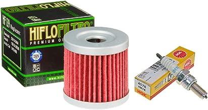 Oil Filter Spark Plug Tune Up Kit for Arctic Cat 400, Kawasaki KFX400, Suzuki LTZ400