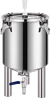 VEVOR Seau de Fermentation 26L Cuve de Fermentation en Acier INOX Seau de Fermenteur avec Robinet Distributeur de Boissons...
