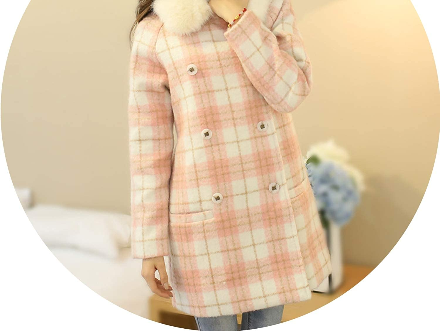 Casual Fashion Women Long Cashmer Coat WideWaisted Long Women's Woolen Jacket Double Breasted Coat and Jacket