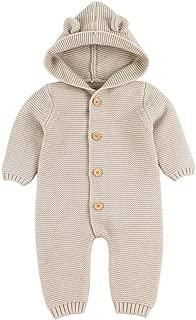 Coversolate Weihnachten S/äuglings Kleidung Overall Strampler S/ü/ß Pl/üsch Knit Jumpsuit f/ür Baby M/ädchen Junge 3-18 Monate