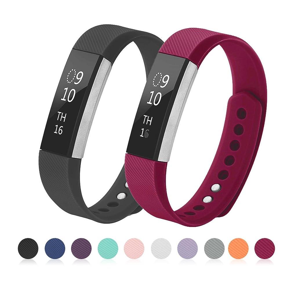 びっくりした独占にやにやKutop for Fitbit Alta HR バンド, 柔らかいシリコン調整可能バンドの取替可能 Alta HR に適用するスマート時計心拍フィットネス腕時計