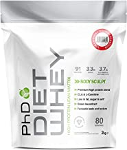 PhD Nutrition Diet Whey Protein Powder Strawberry Delight 2 kg PhD Nutrition Mixball Shaker 600 ml Estimated Price : £ 39,99