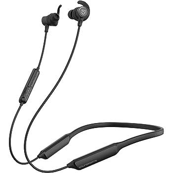 SoundPEATS(サウンドピーツ) FORCE HD ワイヤレスイヤホン APTX-HDコーデック対応 35時間連続再生 トップグレードののシリコーン使用 高音質・低遅延 ブルートゥース イヤホン 超軽量 Bluetooth5.0 IPX6防水 Bluetooth イヤホン CVC ノイズキャンセリング搭載 マグネット内蔵 ネックバンド式 ハンズフリー通話 ワイヤレス ヘッドホン iPhone Android対応 [メーカー1年保証] ブラック