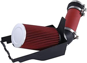 For 1999-2003 Ford F-250 F-350 F-450 F-550 Excursion (7.3L V8 Engine Only) 4 Inch Aluminum High Flow Air Intake Kit Red Heat Shield Pipe with Filter