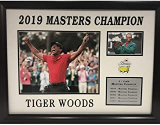 Framed Tiger Woods 2019 5-Time The Masters Tournament Champion Golf 8x10 Photo Collage Professionally Matted