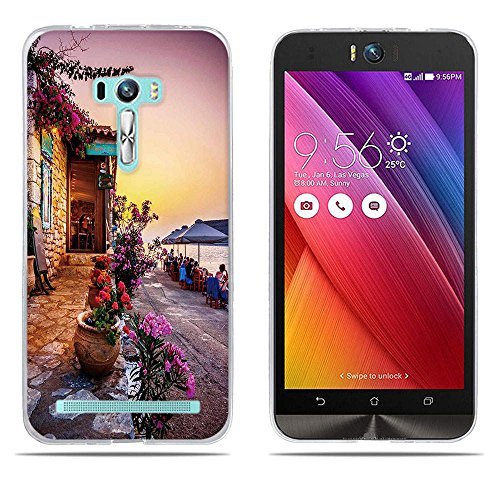 DIKAS für Asus ZenFone Selfie ZD551KL Hülle, Transparent Ultra Slim Tasche Etui Weich Flexibel Crystal Clear Premium TPU Silikon Bumper Schutzhülle für Asus ZenFone Selfie ZD551KL- Pic: 01