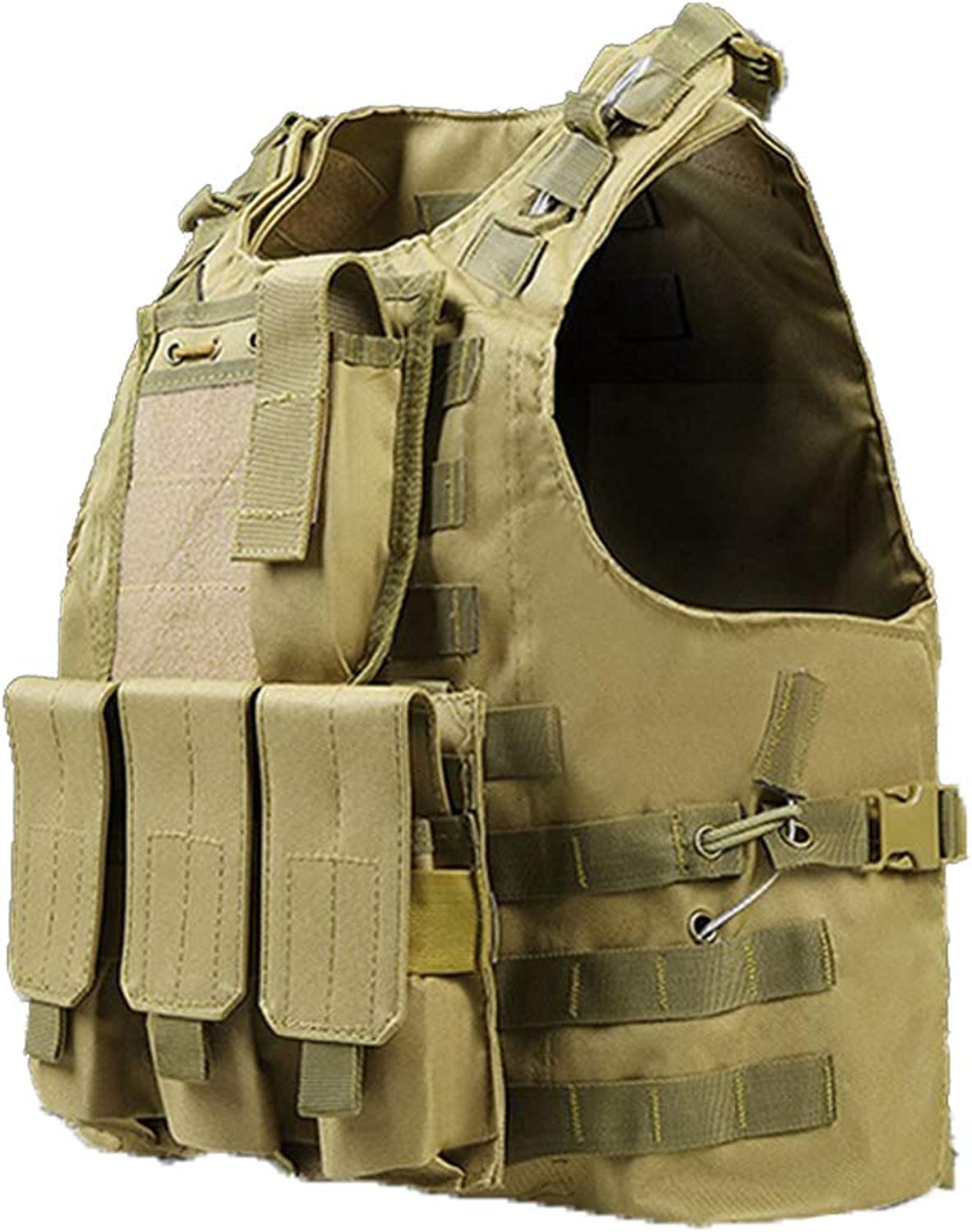 ZIXUN Tactical Vest Adjustable Paintball Breathable Tactical Combat Training Vest for Outdoor Hunting, Army Fans, CS Game, Survival Game