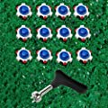 Kofull 12/24Pcs Golf Shoe Spikes Pins Replacement Cleats Champ Cleat Fast Twist with a Golf Shoes Spike Wrench