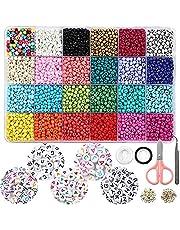 Seed Beads, Letter Beads Pony Beads Grid Bead Craft Kit Set Rope DIY Art and Handmade…