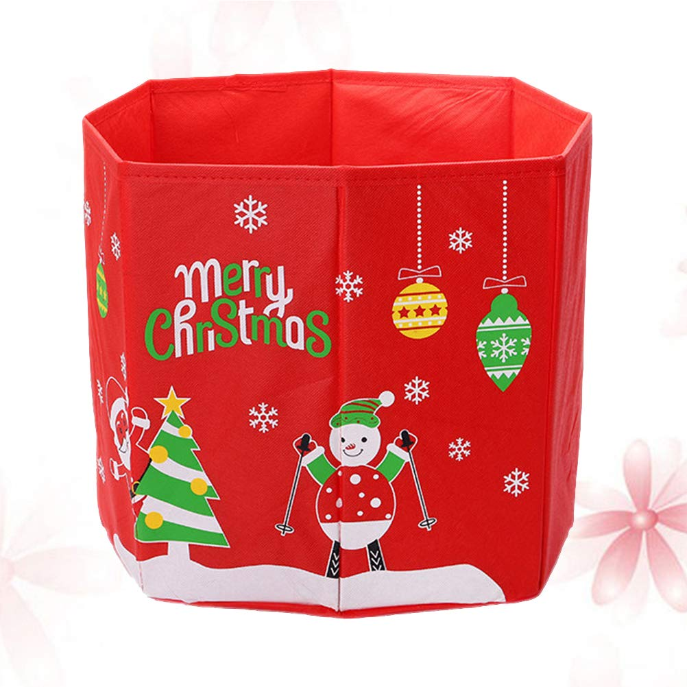 TOPBATHY Caja de Almacenamiento no Tejida Árbol de Navidad Muñeco de Nieve Caja de Base Plegable Estampada Cubierta del pie del árbol de Navidad: Amazon.es: Hogar