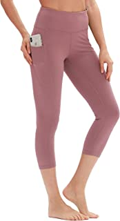 icyzone Yoga Pants for Women - High Waisted Workout Leggings with Pockets, Power Flex Athletic Capris Gym Exercise Tights