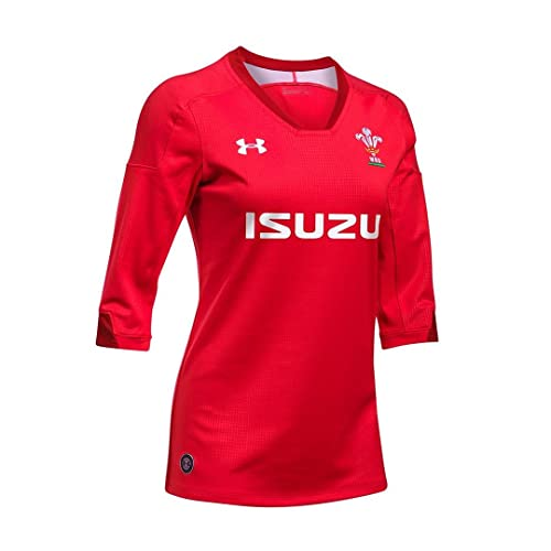 f7edfbe918a Wales WRU 2018/19 Ladies Home S/S Replica Rugby Shirt - Red