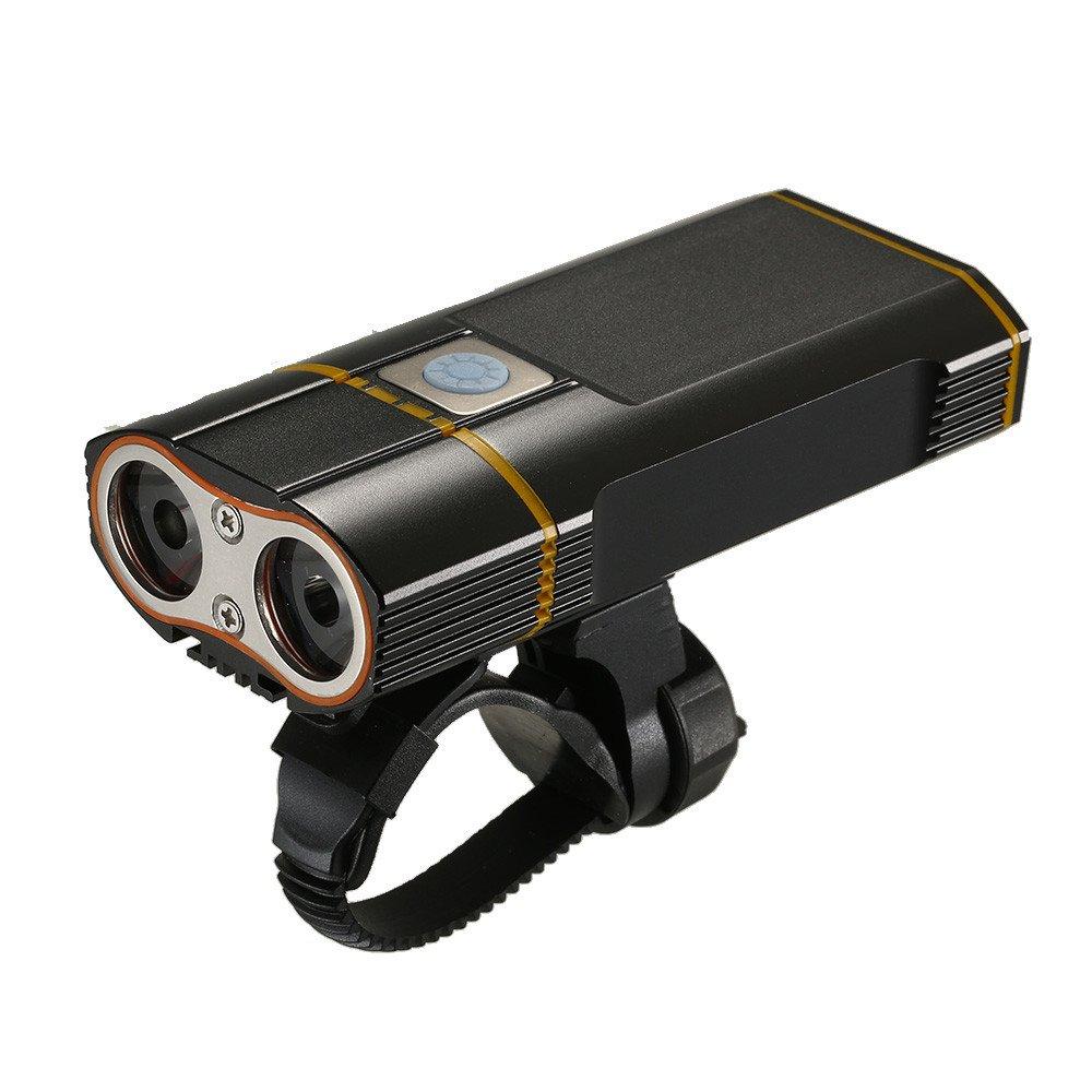 Easycat - Luz de Bicicleta Recargable USB 2400 LM MTB Seguridad ...
