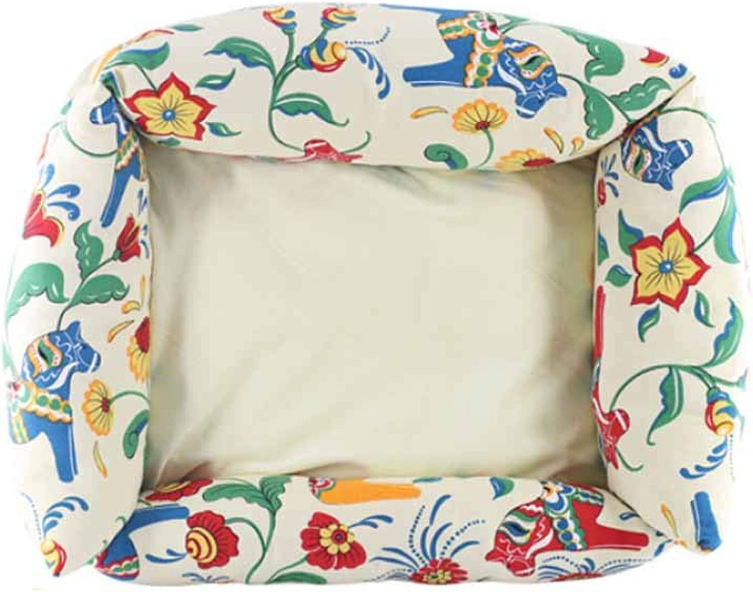Muziwenju Kennel, Dog Bed, Pet Kennel, Warm Winter and Winter, Teddy Small Dog,Flower World (color   Flower World)