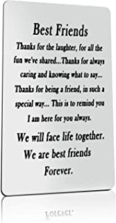 Best Friend Gift Engraved Wallet Card Insert for Best Friend We Will Face Life Together We are Best Friends Forever Wallet...