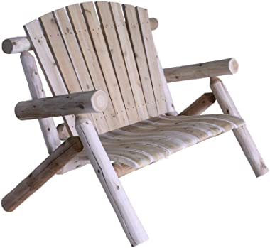 Lakeland Mills 4-Foot Cedar Log Love Seat, Natural