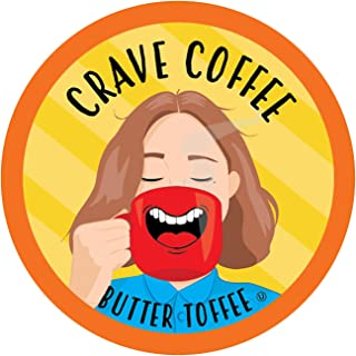 Crave Flavored Coffee Pods, Compatible with 2.0 K-Cup Brewers, Butter Toffee, 40 Count
