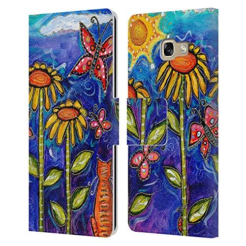 Head Case Designs Offiziell Zugelassen Wyanne Sonnenuntergang Und Sonnenblumen Natur 2 Leder Brieftaschen Handyhülle Hülle Huelle kompatibel mit Samsung Galaxy A5 (2017)