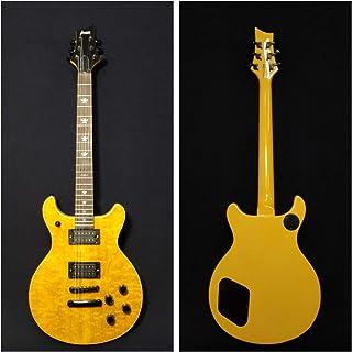 Haze Double Cutaway Electric Guitar,Solid Basswood+Ash Burl Veneer+Bag 280BNABH