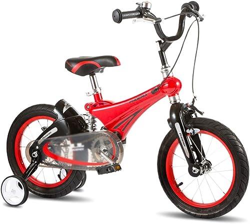 Kinderfürr r Kinder fürrad im Freien fürrad Student fürrad Junge mädchen fürrad im Freien Auto Kind Lernen Auto, Magnesium-Legierung Rahmen (Farbe   rot, Größe   14inches)