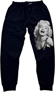 ac74ff30c8f Classic Marilyn Monroe Men's Jogger Training Black Pants Running Fitted