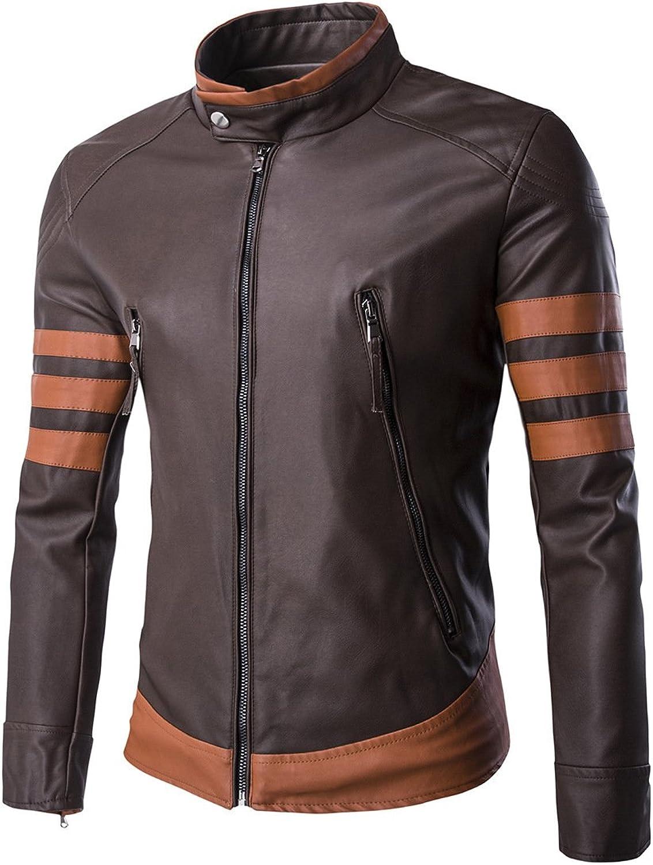 EVNGA Men'S Fur Leather Jacket Motorcycle Motorcycle Leather Clothing
