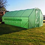 FeelGoodUK Pro 6 x 3 x 2 Polytunnel Galvanised Metal Opening Door Green House Superior Frame Work Poly Tunnel